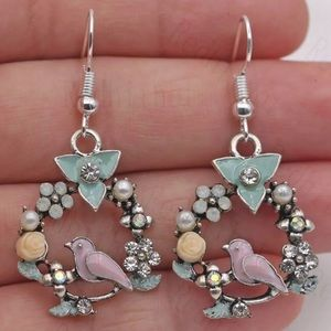 Bird Flower Earrings. NEW!